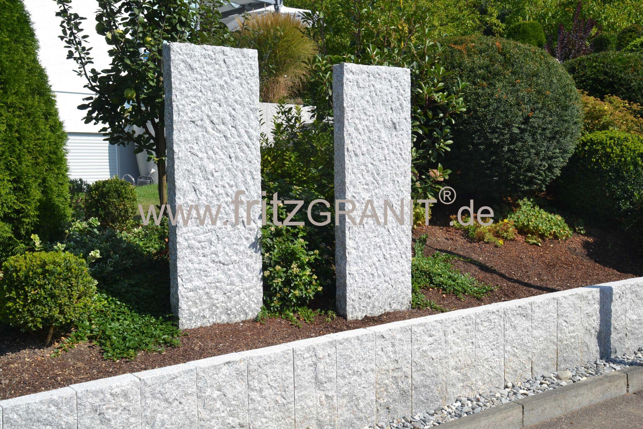 Stelen Sichtschutz Fritzgranit